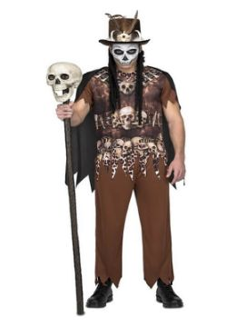 disfraz de hechicero canibal para hombre