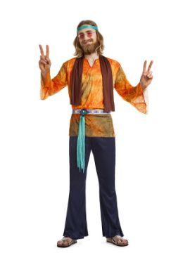 disfraz de hippie california hombre