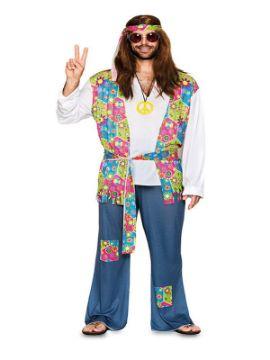 disfraz de hippie flores para hombre