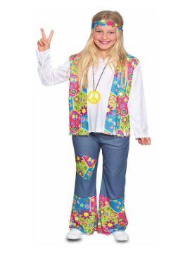 disfraz de hippie flores para niña