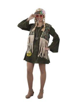 disfraz de hippie pacifista para mujer