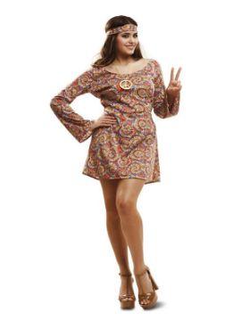 disfraz de hippie psicodelica para mujer