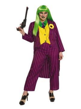 disfraz de joker risueña para mujer