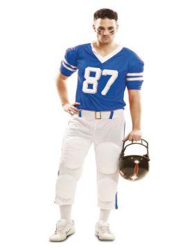 disfraz de jugador de futbol americano azul hombre