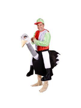 disfraz de jugador de jockey en avestruz adulto