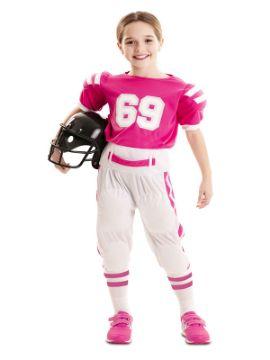 disfraz de jugadora futbol americano rosa niña