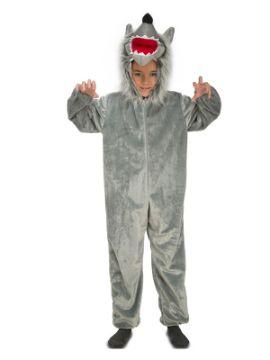 disfraz de lobo feroz peludo para niño