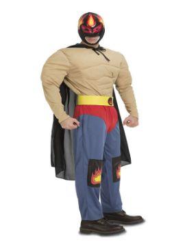 disfraz de luchador ramirez musculoso adulto