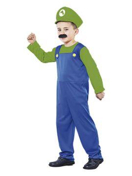 disfraz de luigi barato niño