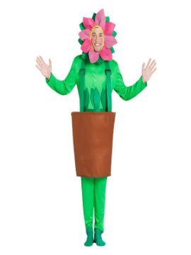 disfraz de maceta con girasol para adultos