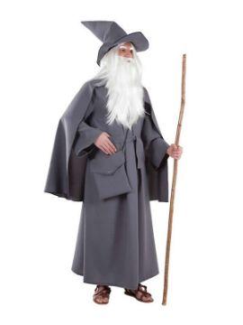 disfraz de mago hechicero gris hombre