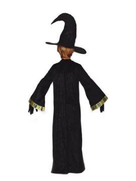 disfraz de mago negro y verde infantil