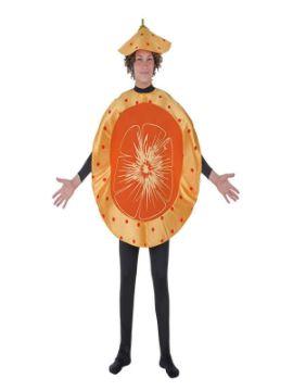 disfraz de mandarina o naranja adulto