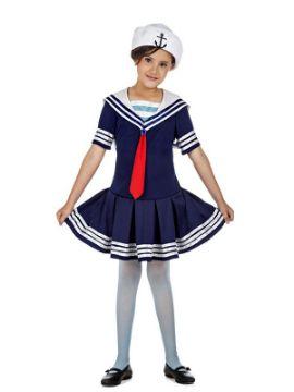 disfraz de marinera azul para niña