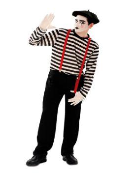 disfraz de mimo clasico para hombre