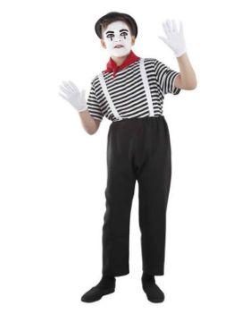 disfraz de mimo niño infantil