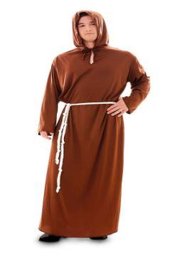 disfraz de monje marron para hombre