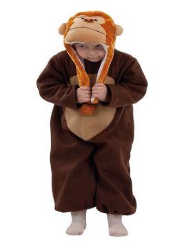 disfraz de mono marron bebe
