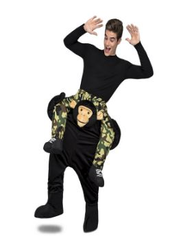disfraz de mono o chimpance a hombros adulto