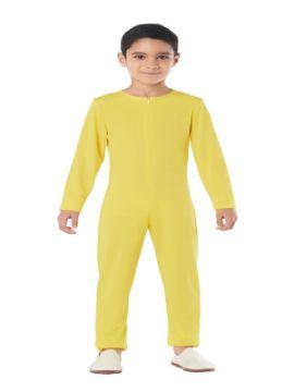 disfraz de mono o maillot amarillo spandex infantil