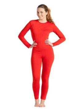 disfraz de mono o maillot rojo mujer
