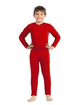 disfraz de mono o maillot rojo niño
