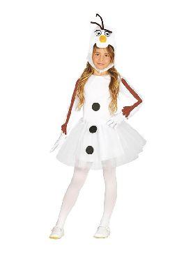 disfraz de muñeco de nieve olaf tutu niña
