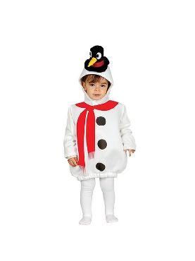 disfraz de muñeco de nieve para bebe