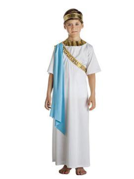 disfraz de noble griego blanco niño