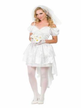 disfraz de novia sexy mujer