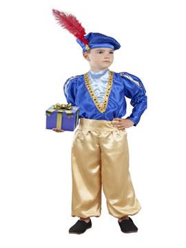disfraz de paje azul infantil