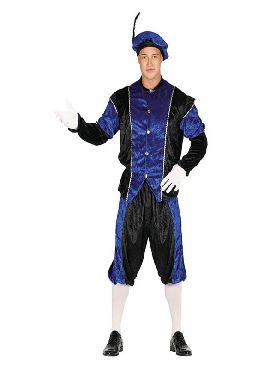 disfraz de paje azul y negro para hombre