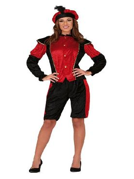 disfraz de paje real roja para mujer