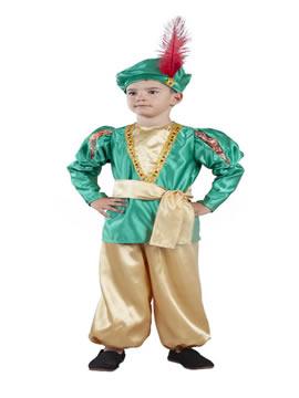 disfraz de paje real verde infantil