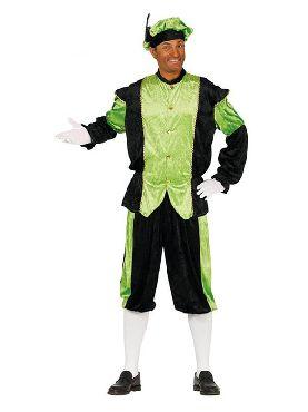 disfraz de paje verde y negro para hombre