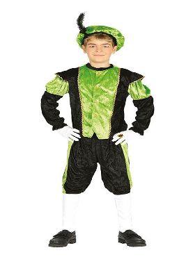 disfraz de paje verde y negro para niño