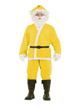 disfraz de papa noel amarillo para hombre