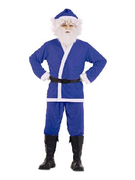 disfraz de papa noel azul para hombre