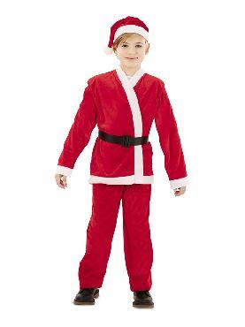 disfraz de papa noel rojo infantil