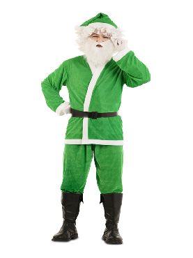 disfraz de papa noel verde para hombre