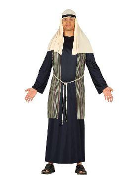 disfraz de pastor hebreo azul hombre