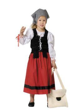 disfraz de pastora deluxe niña