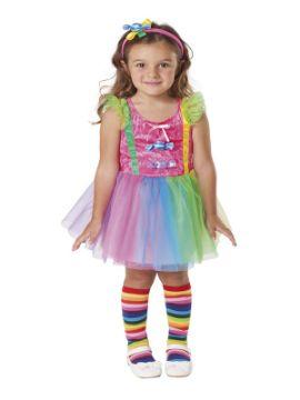 disfraz de payasa caramelos para niña