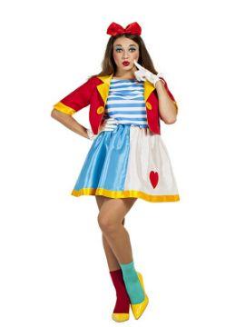 disfraz de payasa de circo mujer