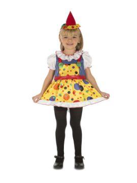 disfraz de payasita colores niña