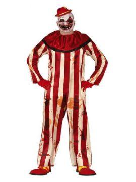 disfraz de payaso asesino rayas hombre