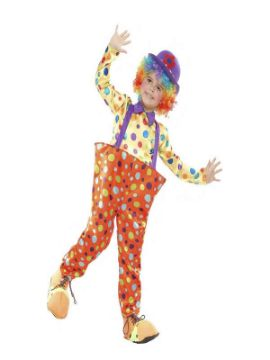 disfraz de payaso lunares con aro niño