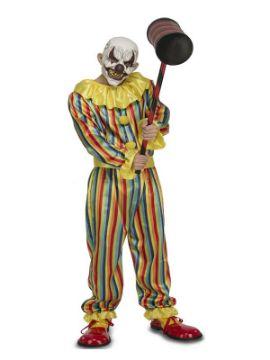 disfraz de payaso prank con mascara para hombre