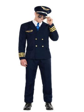 disfraz de piloto de aviacion adulto