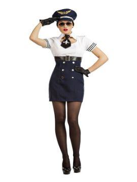 disfraz de piloto de aviacion sexy mujer